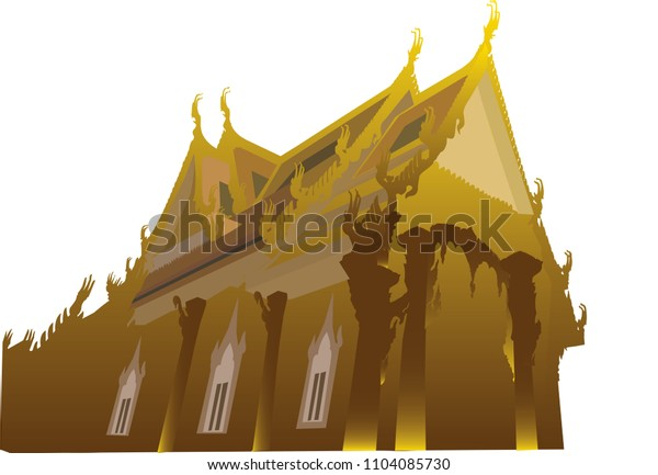 temple vector on white background