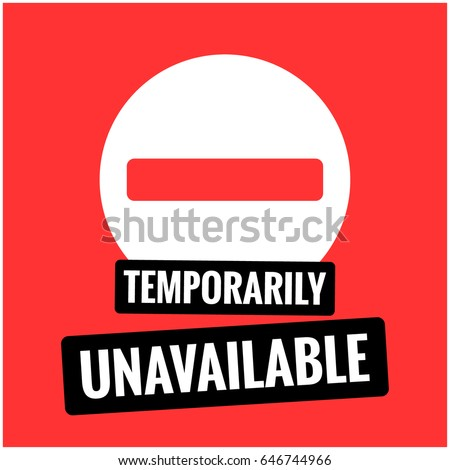 Temporarily Unavailable Flat Style Busy Sign Stock Vektorgrafik