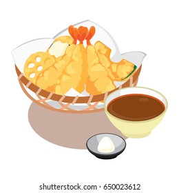 Tempura with Tentsuyu