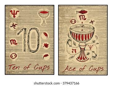 Imágenes, fotos de stock y vectores sobre Tarot Cartas