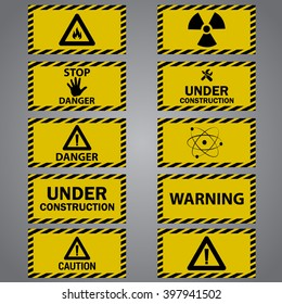 Ten caution danger signs