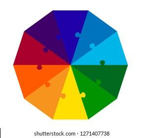 Ten Part Decagon Puzzle