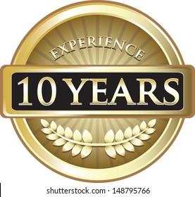 Ten Years Experience Gold Award