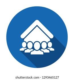 Tenant icon. Social community - Vector web icon. Vector illustration