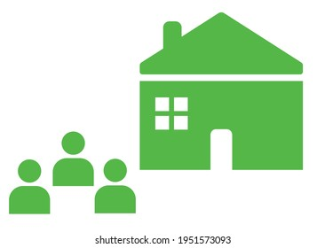 Tenant or landlord. Property owner. Tenant, landlord, landlord line icon. Vector design EPS 10