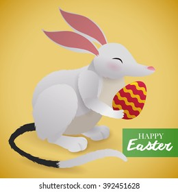 Tender bilby with a delicious chocolate egg celebrating the Australian Easter holiday.