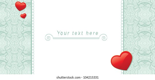 Tender romantic background for your text information