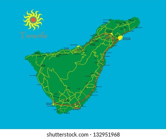 Map Of Spain Tenerife.Tenerife Map Images Stock Photos Vectors Shutterstock