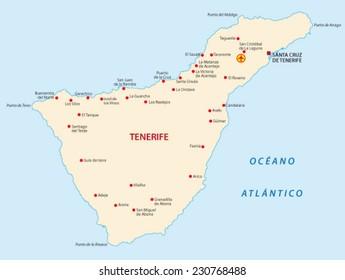Imagenes Fotos De Stock Y Vectores Sobre Mapa Tenerife Shutterstock