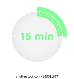 Ten-minute timer. Vector illustration. Isolated. White background. Eps10.