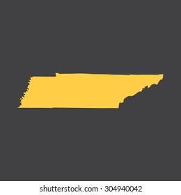 Tennessee border,map. Vector illustration EPS8.