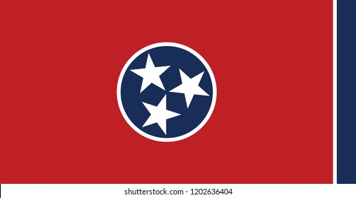 Tennessee flag state symbol USA America emblem