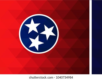 Tennessee Flag vector illustration. Tennessee Flag. National Flag of Tennessee. Mosaic flag. Vector