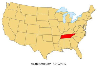 Tennessee Locate Map