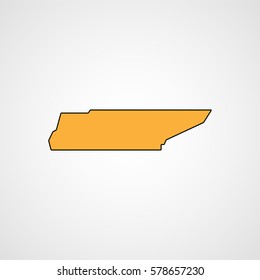 Tennessee map. Vector
