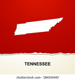 Tennessee map vector background
