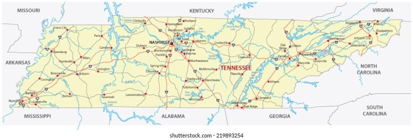 Nashville Tennessee Map Stock Vectors, Images & Vector Art ...