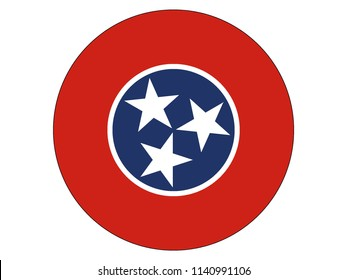 Tennessee Round Flag