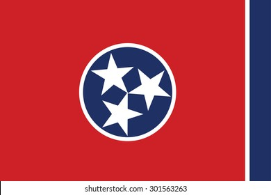 Tennessee state flag of America