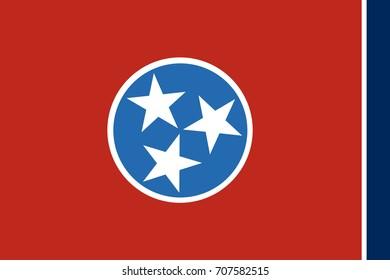 Tennessee State Flag. Vector illustartion.