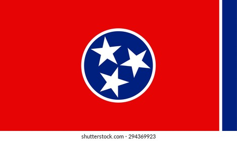 Tennessee state national flag. Vector EPS8