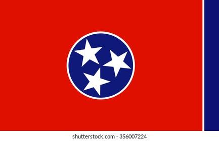 Tennessee (USA)  flag