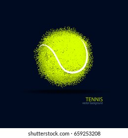 Tennis, abstract ball, design, element for a sports banner, poster.