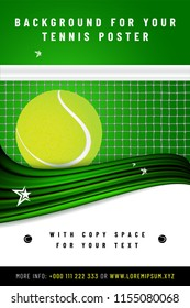 Tennis background template with sample text in separate layer - vector illustration