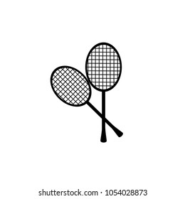 Tennis, badminton, game, racket sports recreation hobby pictogram vector icon illustration symbol