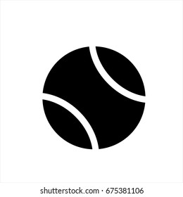 tennis ball icon in trendy flat style isolated on background. tennis ball icon page symbol for your web site design tennis ball icon logo, app, UI. tennis ball icon Vector illustration, EPS10.