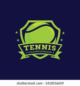 Tennis ball logo template vector