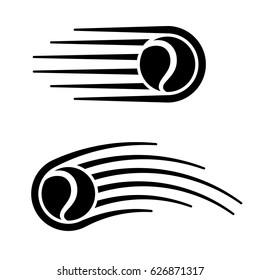tennis ball motion line symbol vector