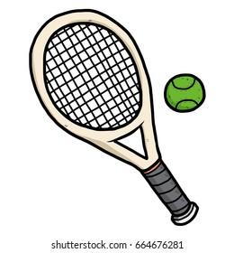 Tennis Racket Cartoon Images Stock Photos Vectors Shutterstock