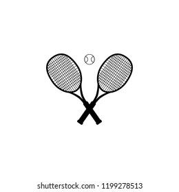 Tennis ball and tennis racquet, vector illustration. Tennis design over white background vector illustration. Sports, fitness, activity vector design.
