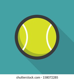 Tennis ball retro poster, sport and recreation concept