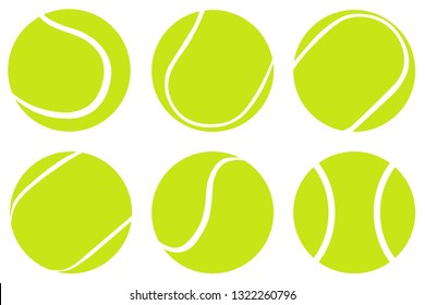 Tennis Ball set isolated on white background,Vector tennis design