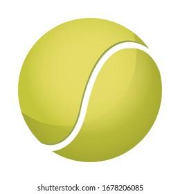 tennis ball sport equipment icon vector illustration design