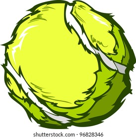 Tennis Ball Template Cartoon Vector Illustrations