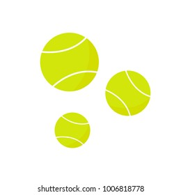Tennis balls icon on the white background. Vector illustration.
