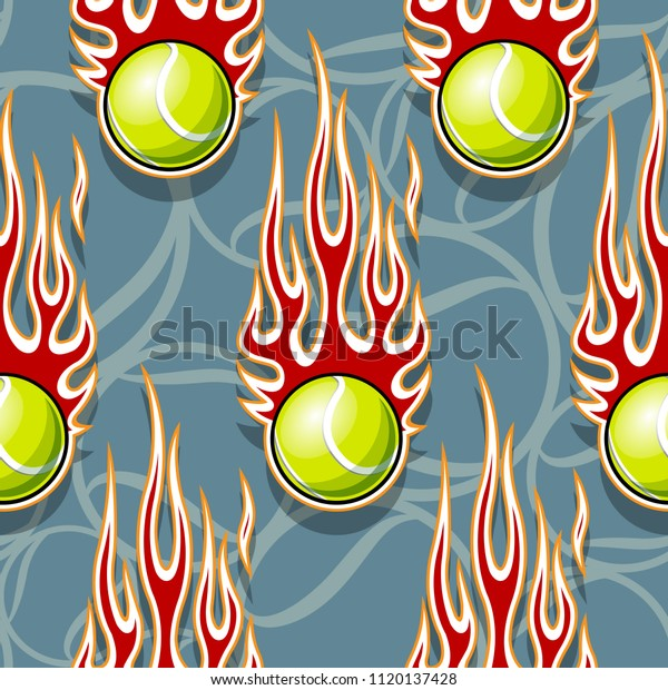 graphic relating to Printable Flames titled Tennis Balls Printable Seamless Practice Hotrod Inventory Vector
