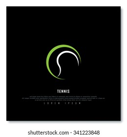 Tennis Black Freehand Sketch Graphic Design Vector Illustration EPS10
