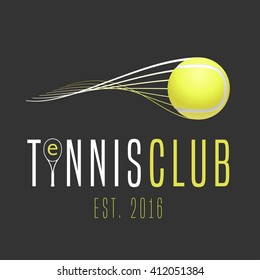 Tennis club vector logo, emblem, sign. Template design element for business related to tennis - court, school, match, store