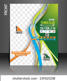 Tennis Competition Front Flyer Template