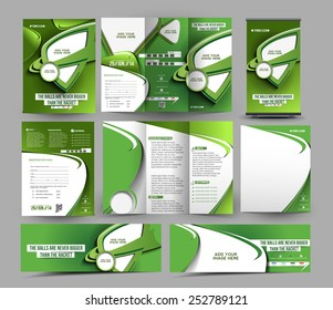 Tennis Competition Stationery Set Template