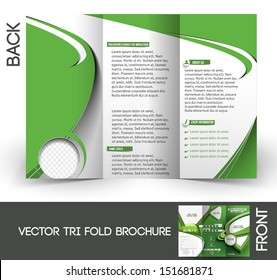 Tennis Competition Tri-Fold  Mock up & Brochure Design