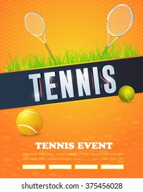 Tennis Event Poster, Flyer Design
