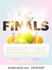 Tennis Event Poster Template Vector Background