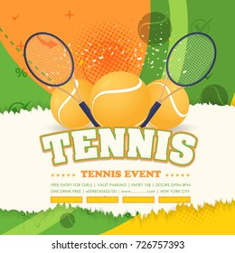 Tennis Event Torn Paper Poster Background