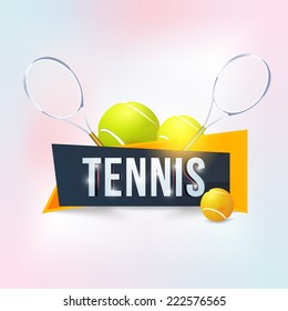 Tennis Event Website Banner Style Poster, Flyer Template Vector Background