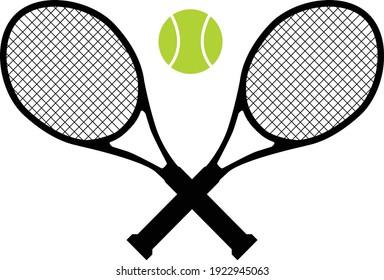 tennis icon on white background. tennis balls and tennis racket. sports sign. tennis logo. flat style.